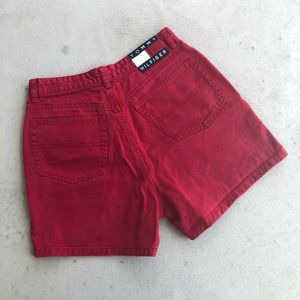 Tommy Hilfiger Vintage Red Denim Mom Shorts